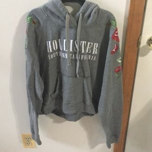 Women's Hollister cropped hoodie